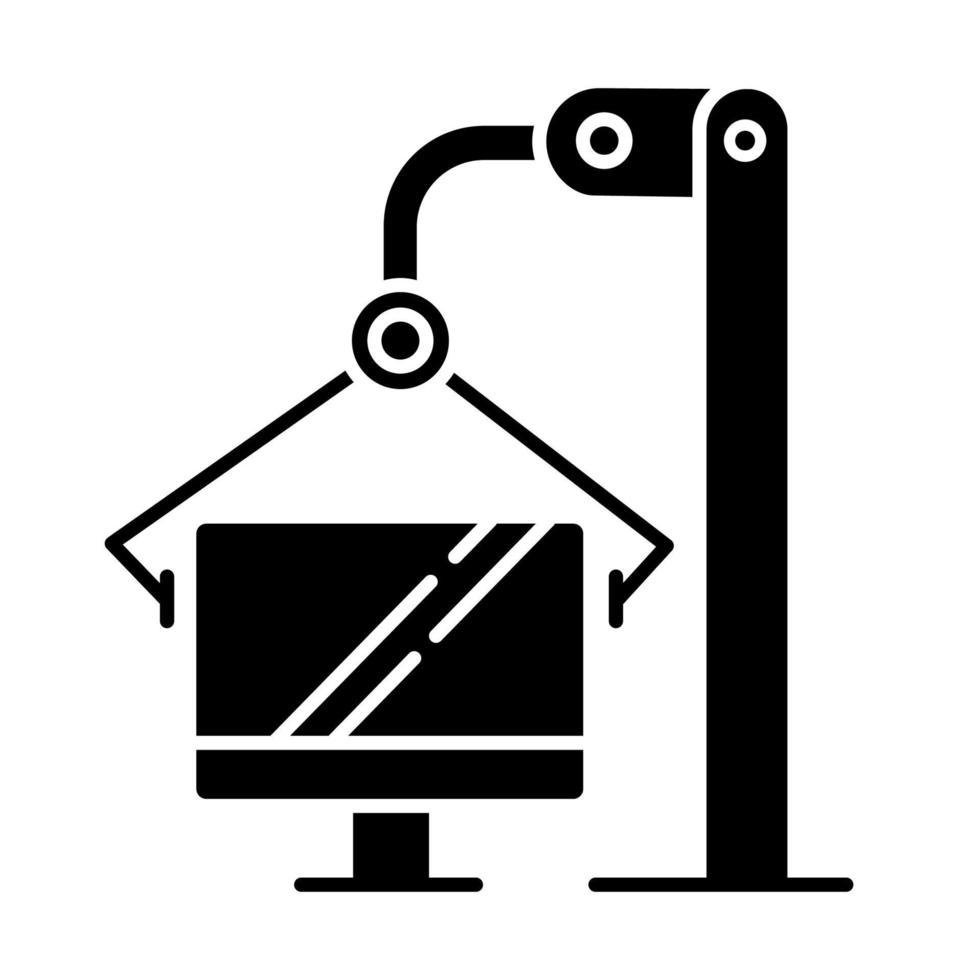 ícone de glifo da indústria de informática vetor