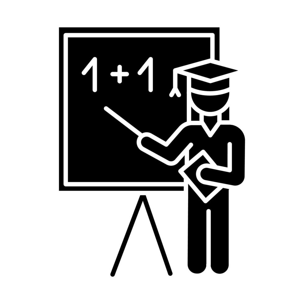 ícone de glifo da indústria educacional vetor
