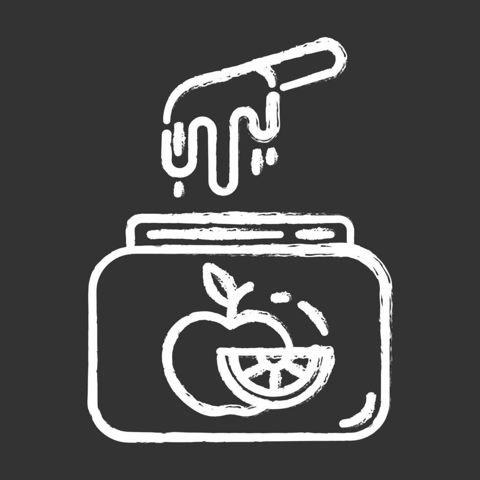 ícone de giz para cera de frutas vetor