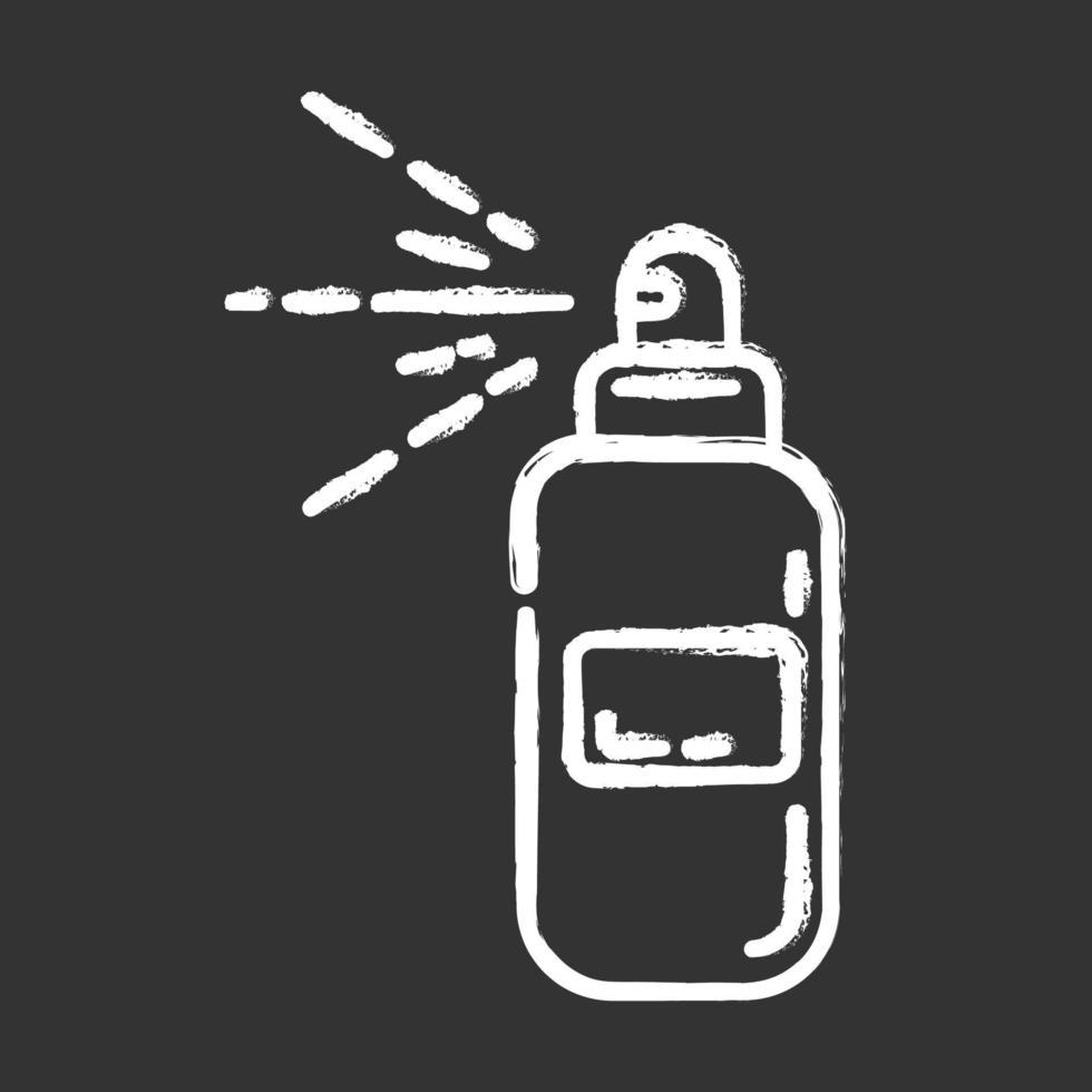 ícone de giz de garrafa de spray corporal vetor