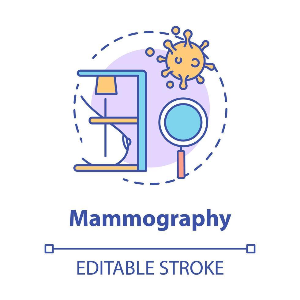 ícone do conceito de mamografia vetor