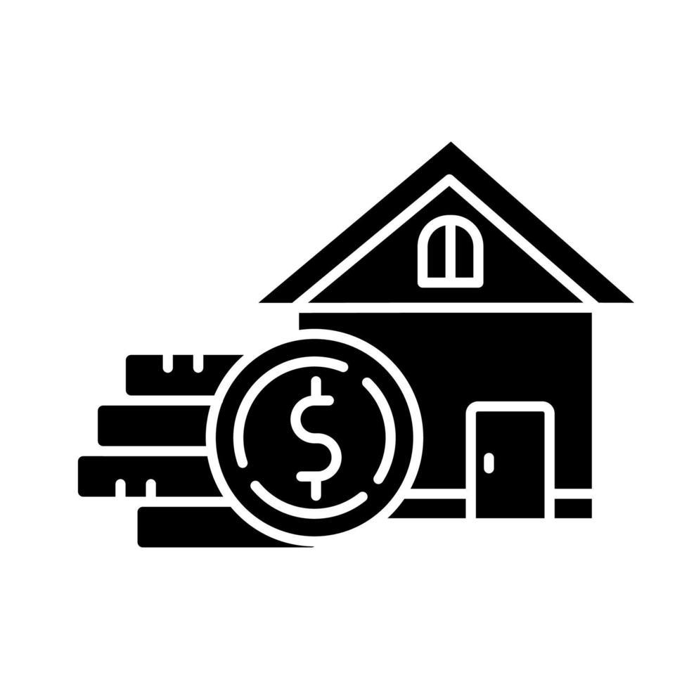 ícone de glifo de home equity vetor