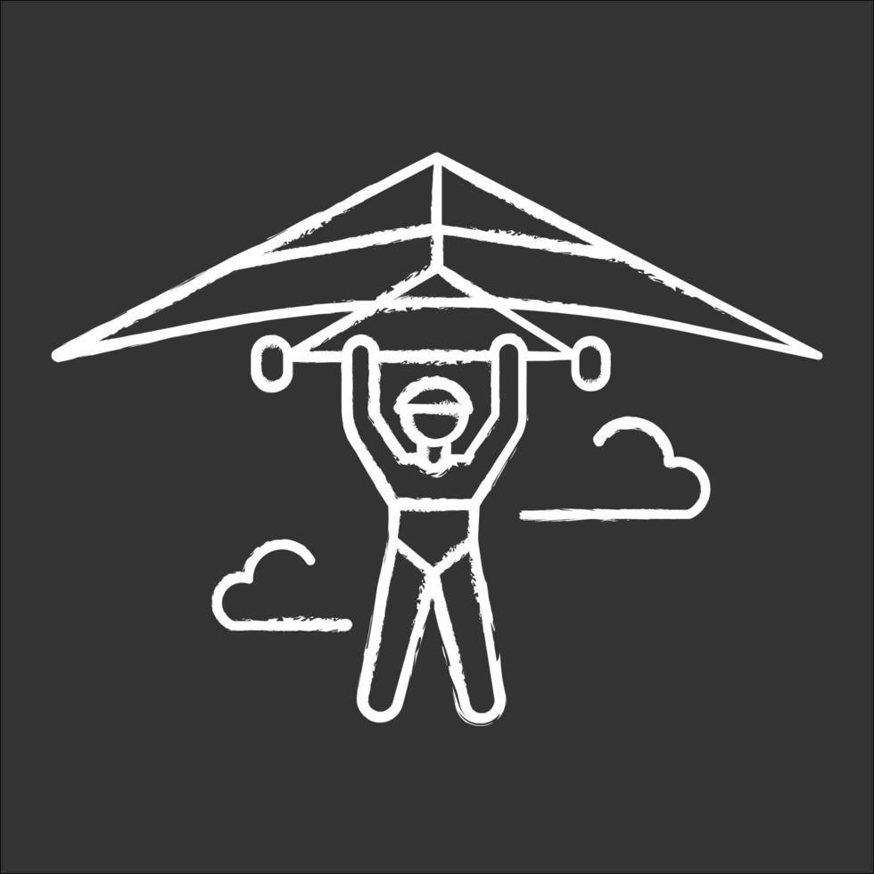 ícone de giz de asa delta vetor