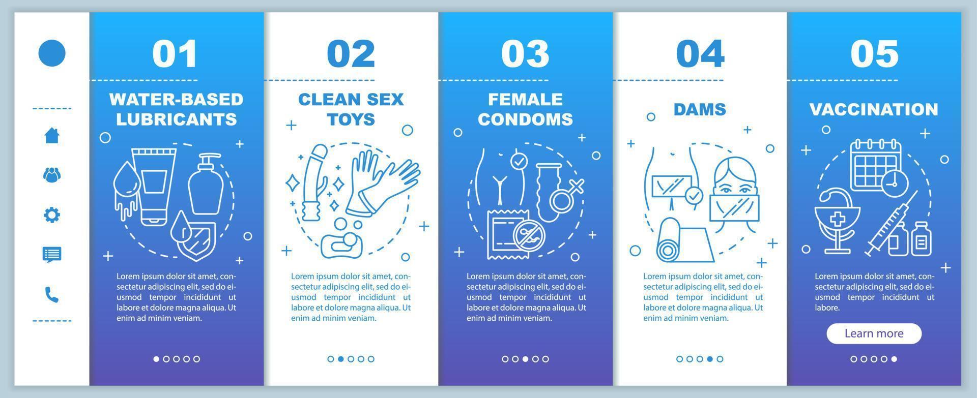 modelo de vetor de integração de páginas da web para dispositivos móveis sexo seguro
