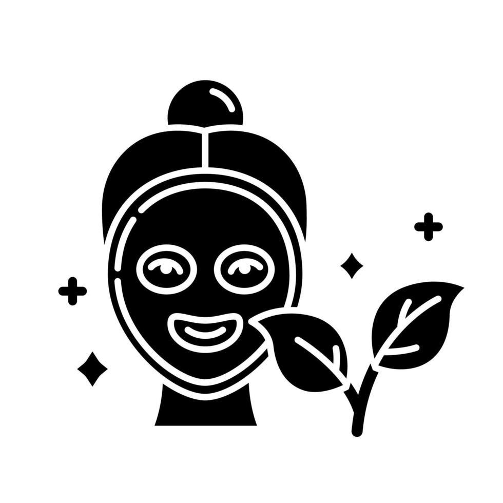 ícone de glifo de máscara facial vetor