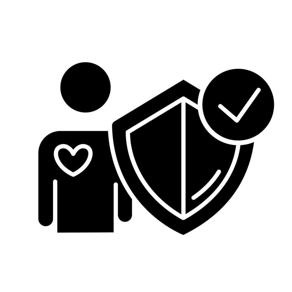 ícone de símbolo de seguro de vida vetor