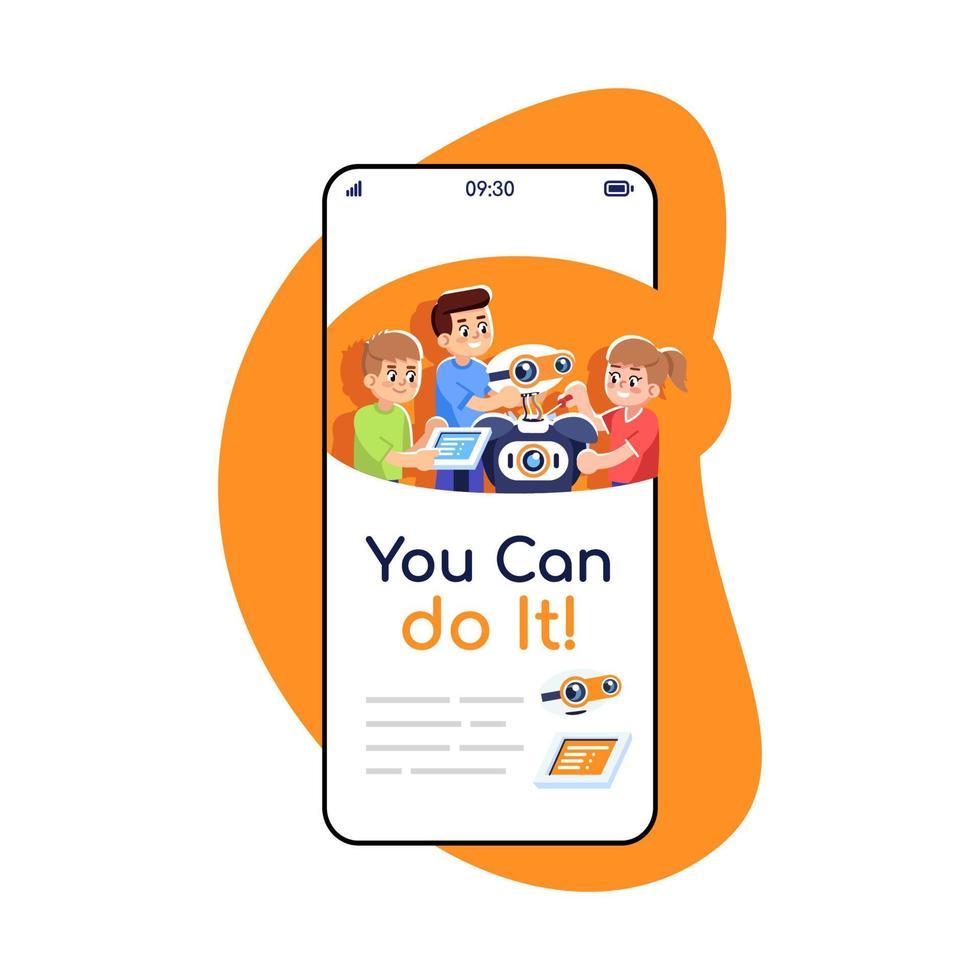 você pode fazer isso nas redes sociais, publica na tela do aplicativo do smartphone vetor