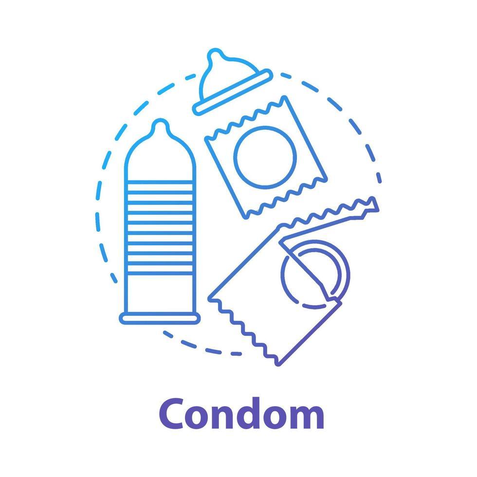 ícone de conceito de preservativo azul vetor