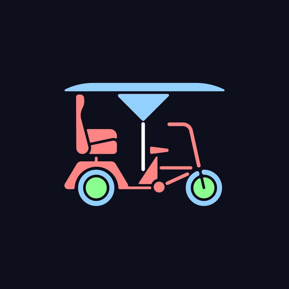 ícone de cor rgb bicitaxi para tema escuro vetor