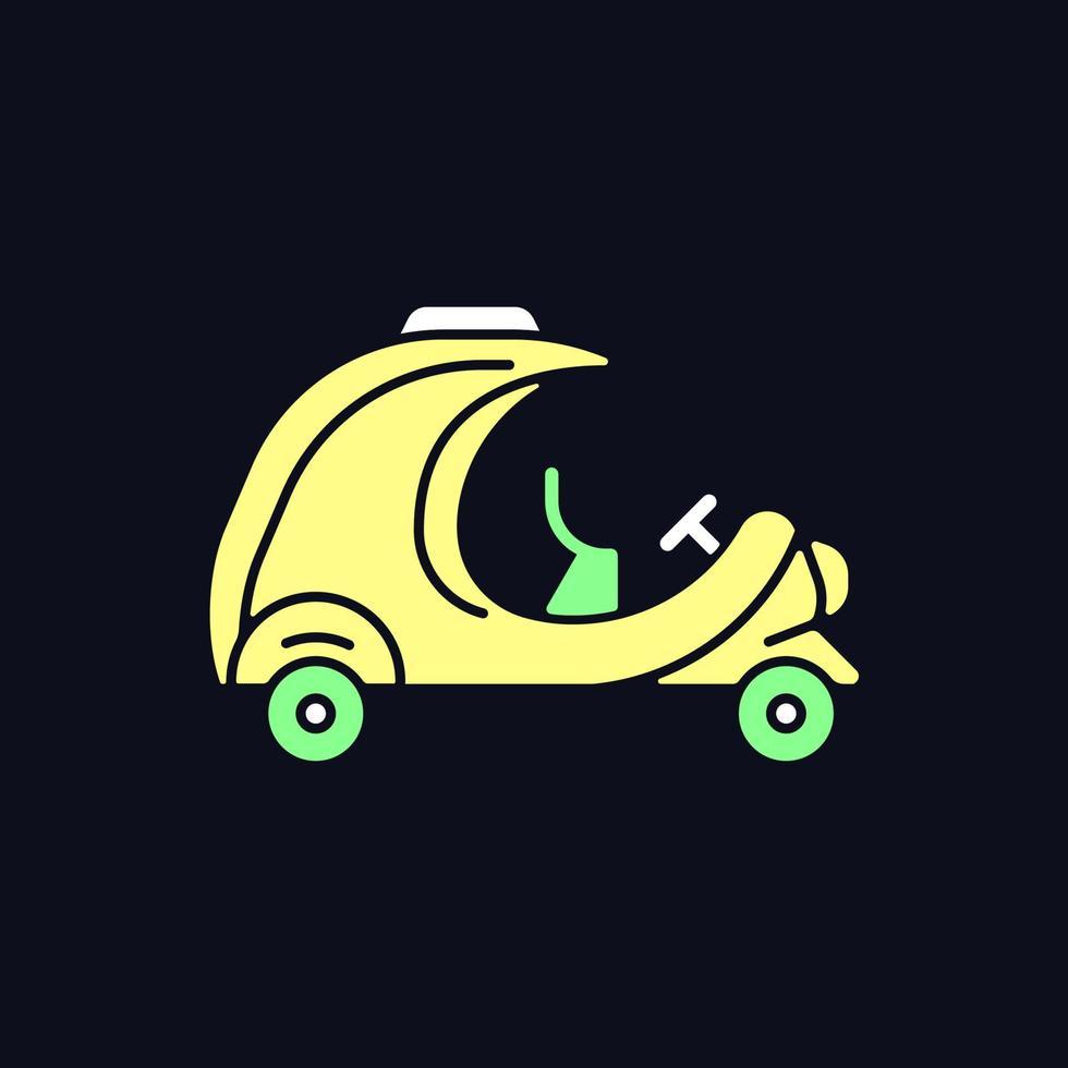 ícone de cor rgb de coco táxi para tema escuro vetor