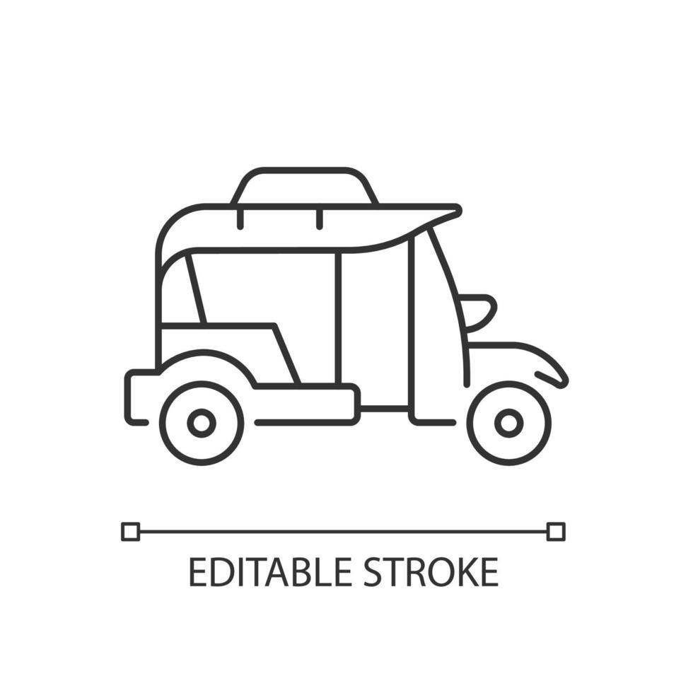 ícone linear bangkok tuk-tuk vetor