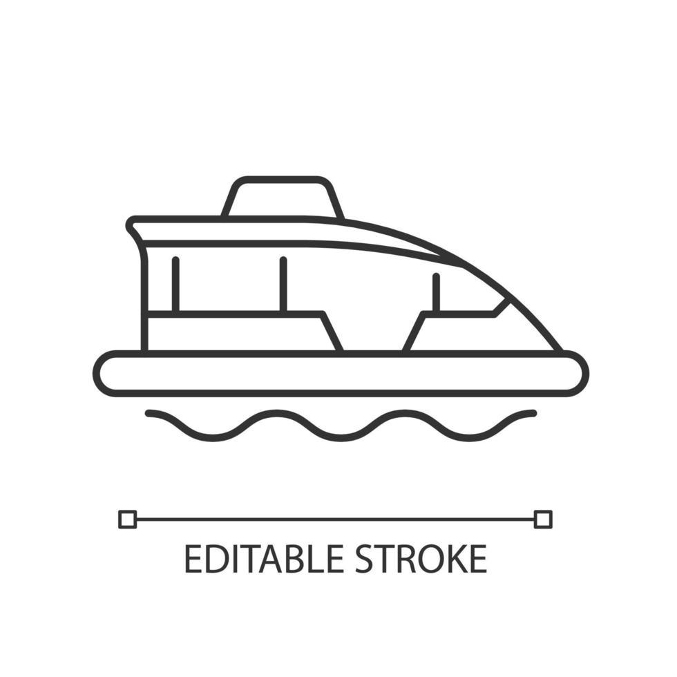 ícone linear de táxi aquático vetor