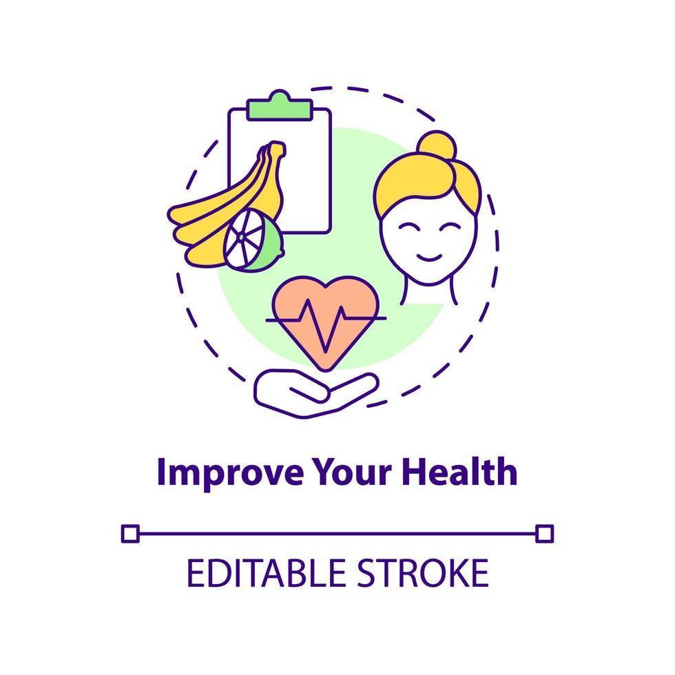 melhore o seu ícone do conceito de saúde vetor