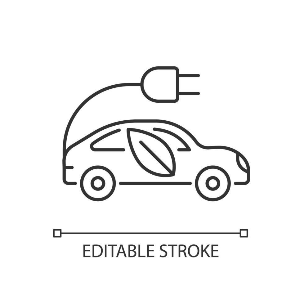 ícone linear de táxi elétrico vetor