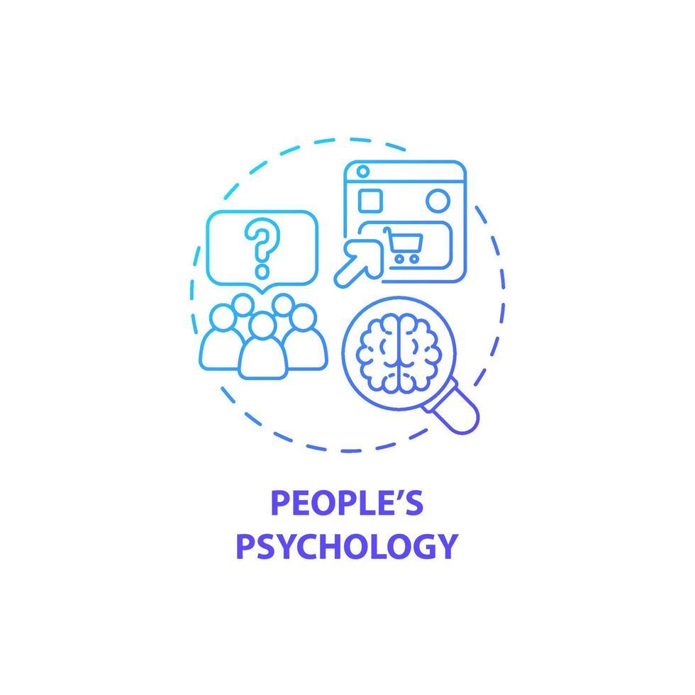 ícone do conceito de psicologia de pessoas vetor