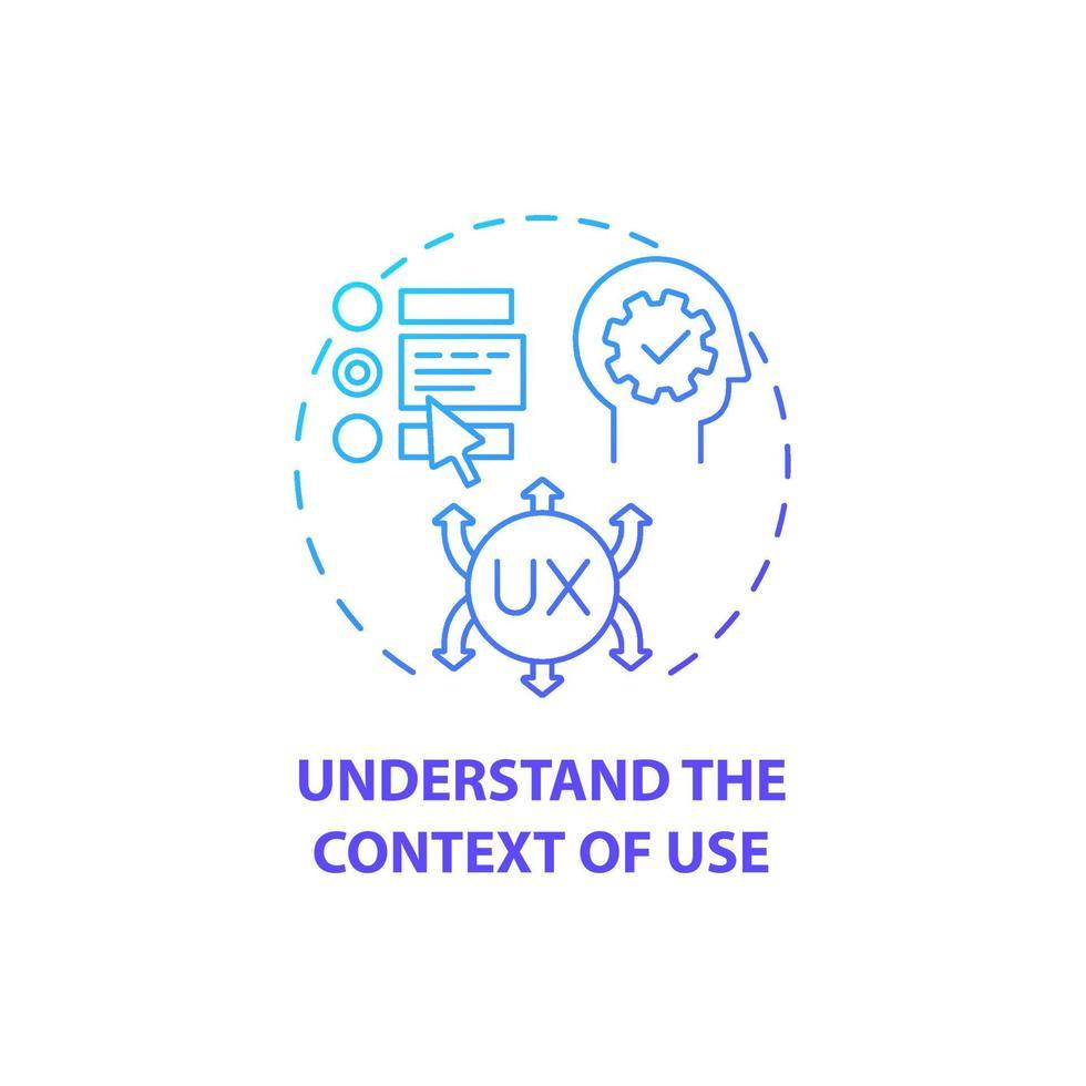 entender o contexto do ícone do conceito de uso vetor