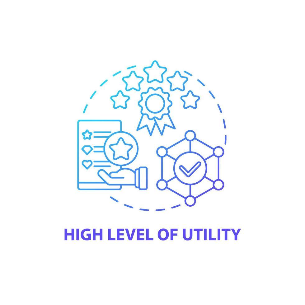 ícone de conceito de alto nível de utilidade vetor
