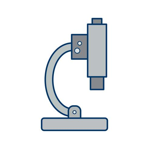Ícone de microscópio de vetor