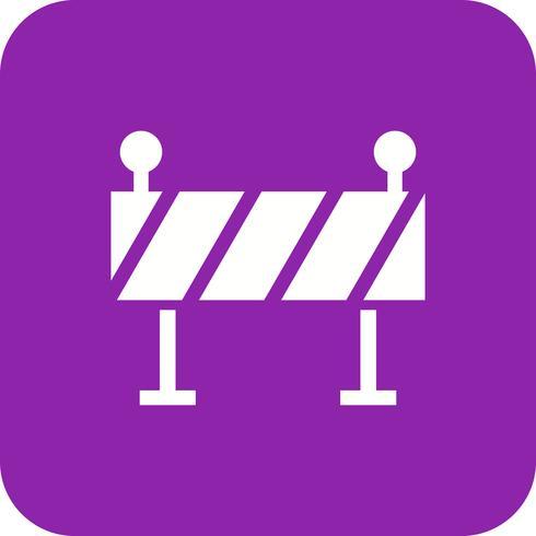Ícone de vetor de barreira