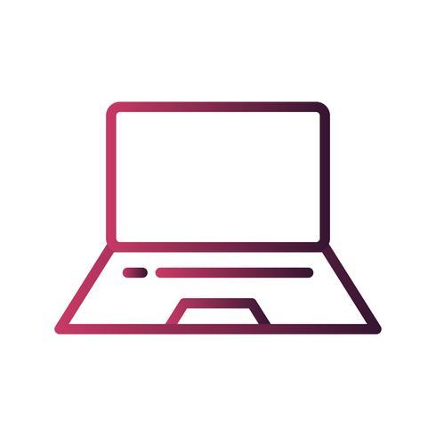 Vector Laptop ícone