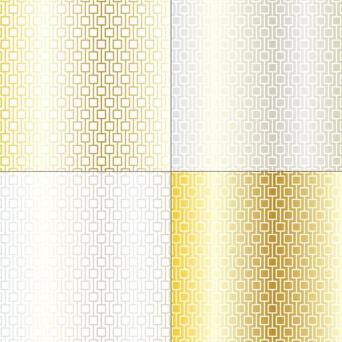 padrões de treliça geométrica mod prata e ouro vetor