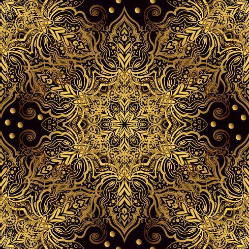 Ornamento oriental sem emenda no estilo barroco. vetor