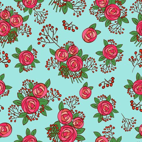 textura sem costura com rosas vintage vetor