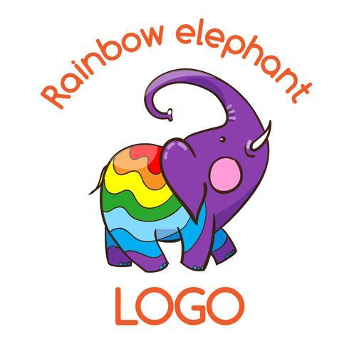 Emblema de elefante multicolor para o seu negócio vetor