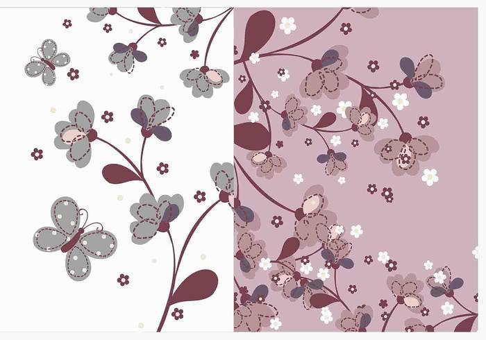 Pacote de vetores de papel de parede de flor natural