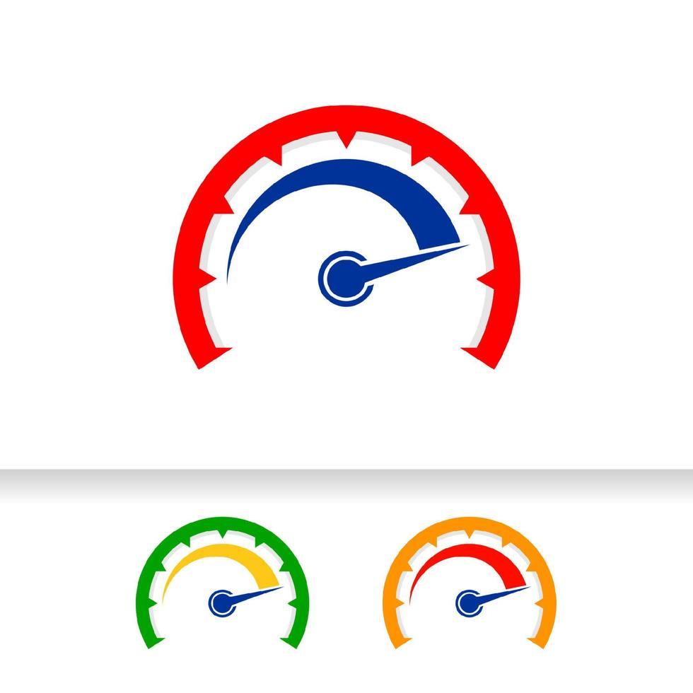 design de logotipo de vetor de indicador de velocidade. modelo de design de símbolo de ícone de velocímetro