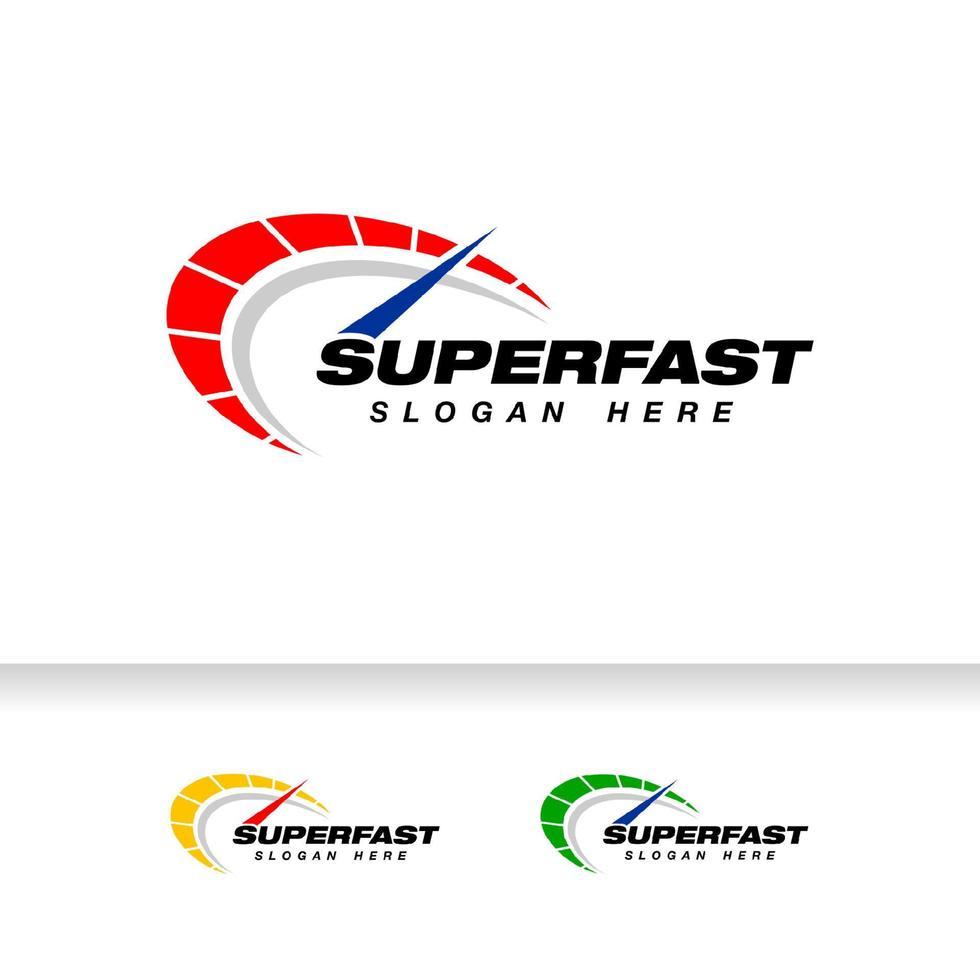 design de logotipo de vetor de velocidade. modelo de design de símbolo de ícone de velocímetro