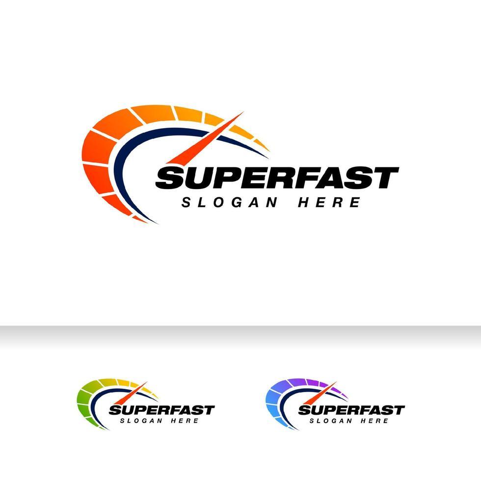 design de logotipo de vetor de indicador de velocidade. modelo de design de símbolo de velocímetro