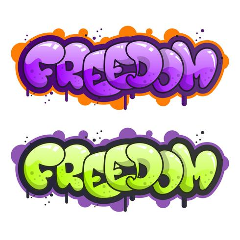 Ilustração em vetor plana moderna grafite letras