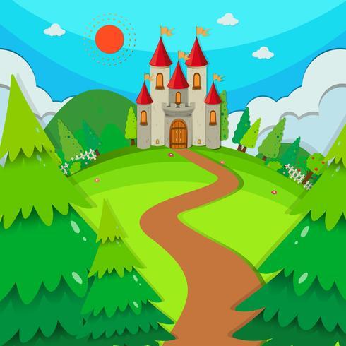 Torres do castelo durante o dia vetor