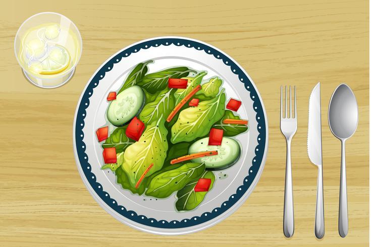 Uma salada guarnecida vetor