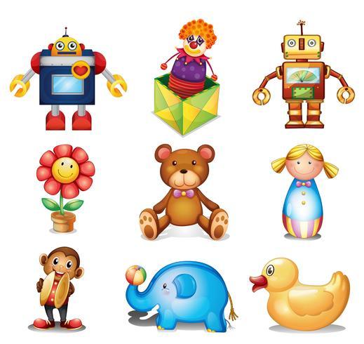 Conjunto de brinquedos vetor