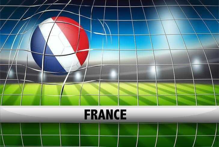 Bandeira de bola de futebol de França vetor
