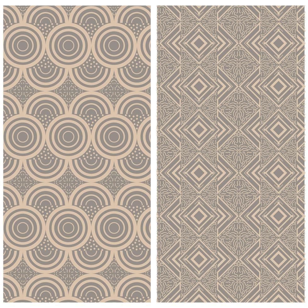 padrão de círculo sem costura abstrato formas de fundo, cor de luxo ouro e linha vetor