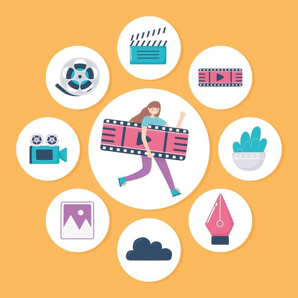 conjunto de ícones design de movimento vetor