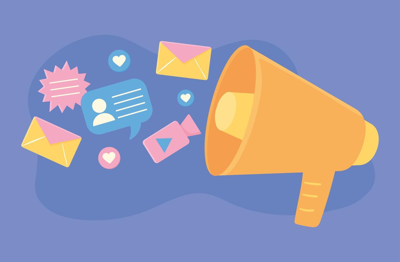 promoção de atividade digital vetor