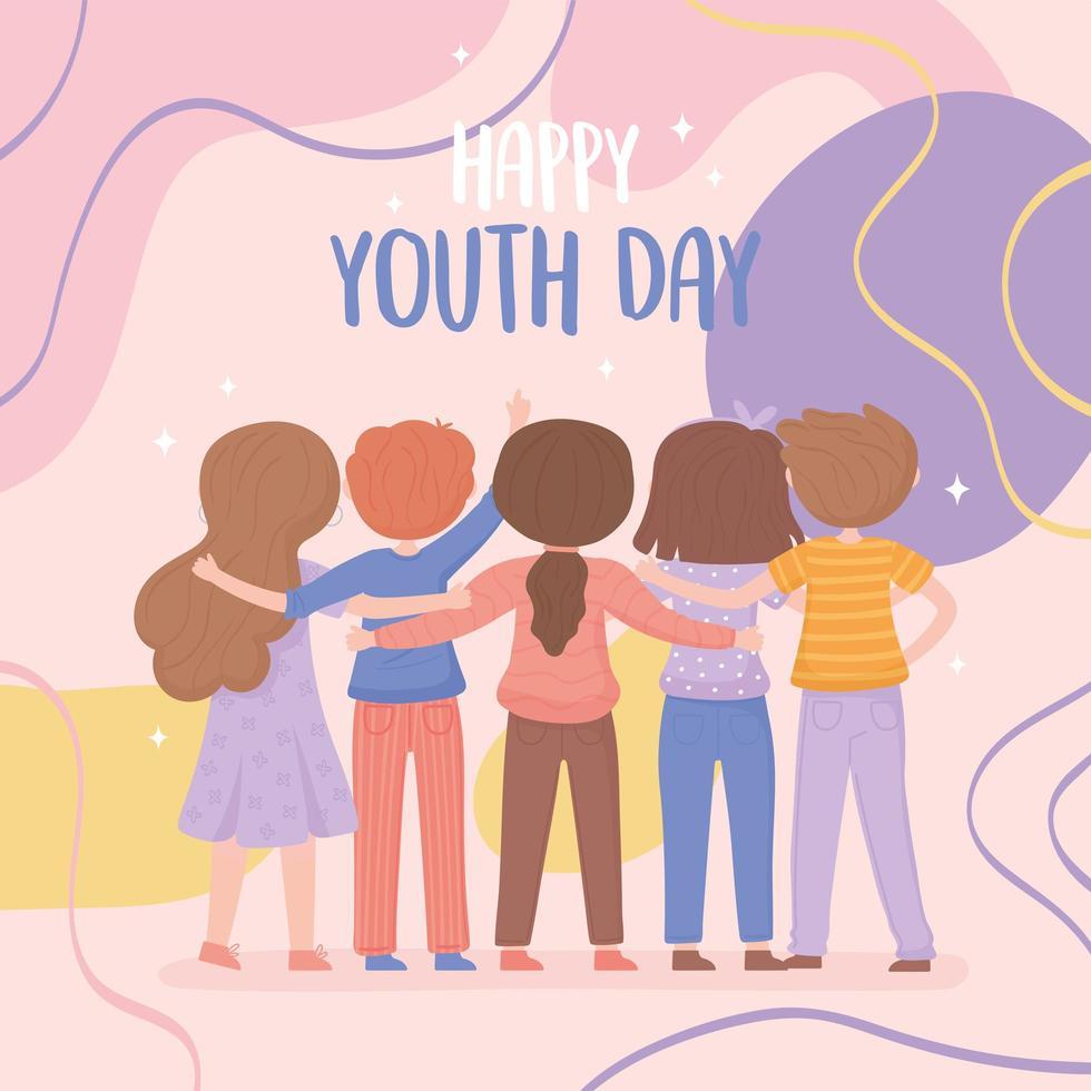 celebrando o dia da juventude vetor