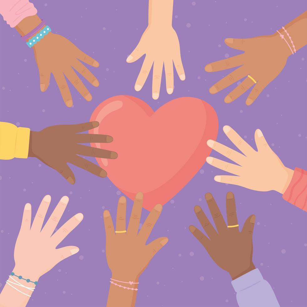 campanha contra a discriminação racial vetor
