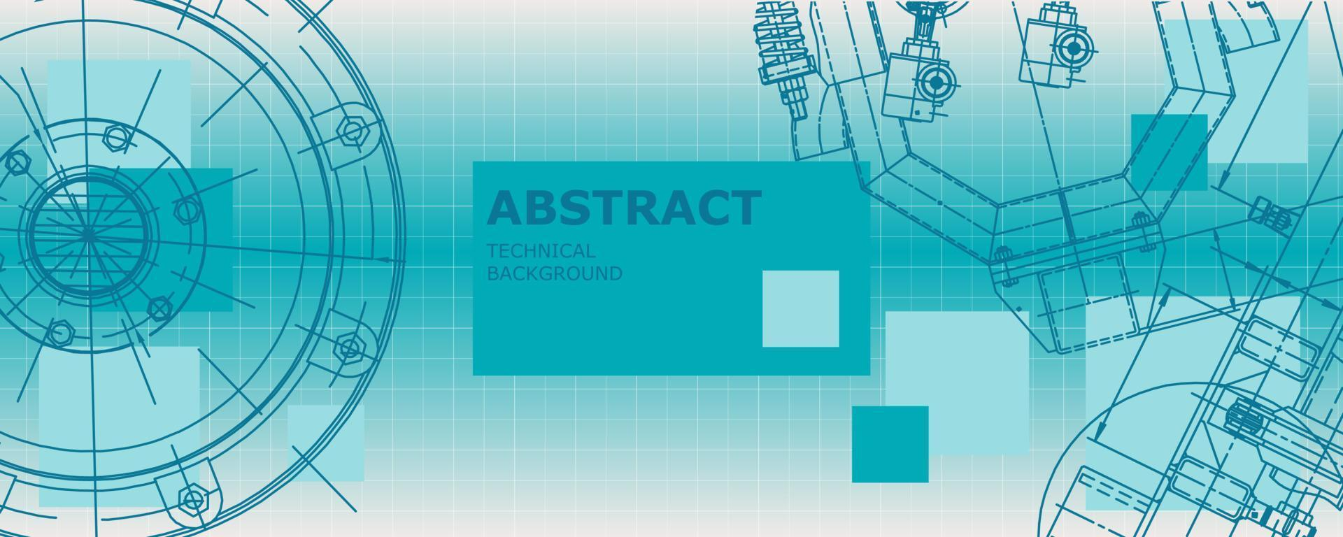 desenho abstrato da engenharia mecânica do conceito do fundo. papel de parede de engenharia vetor