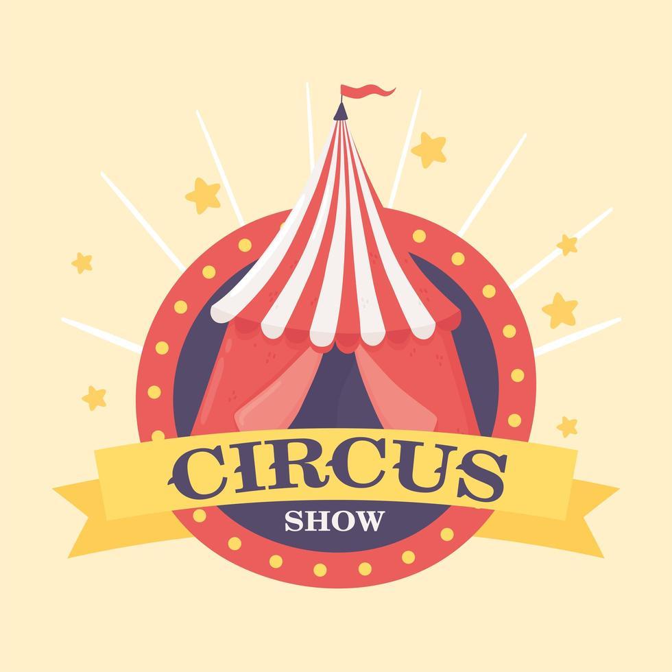 tenda de show de circo vetor