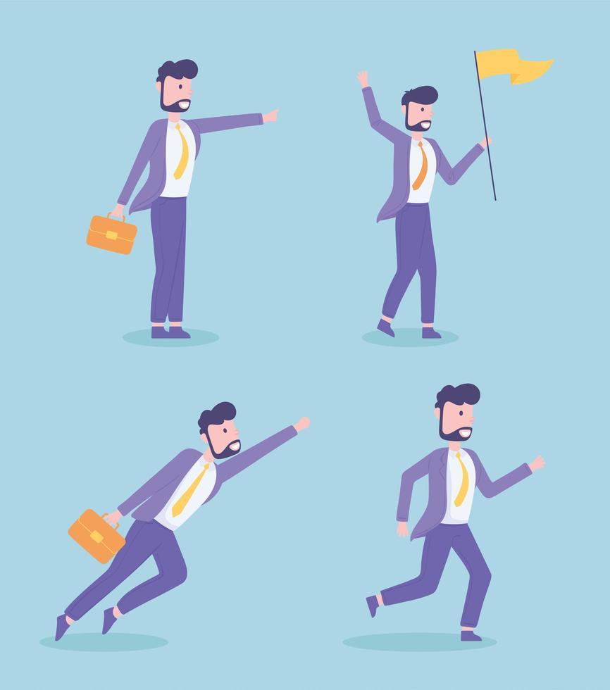 progresso de sucesso de empresários vetor