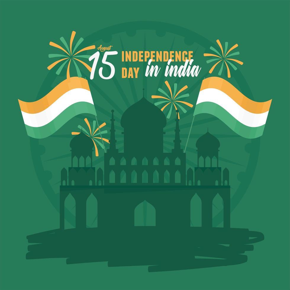 pôster da independência da índia vetor