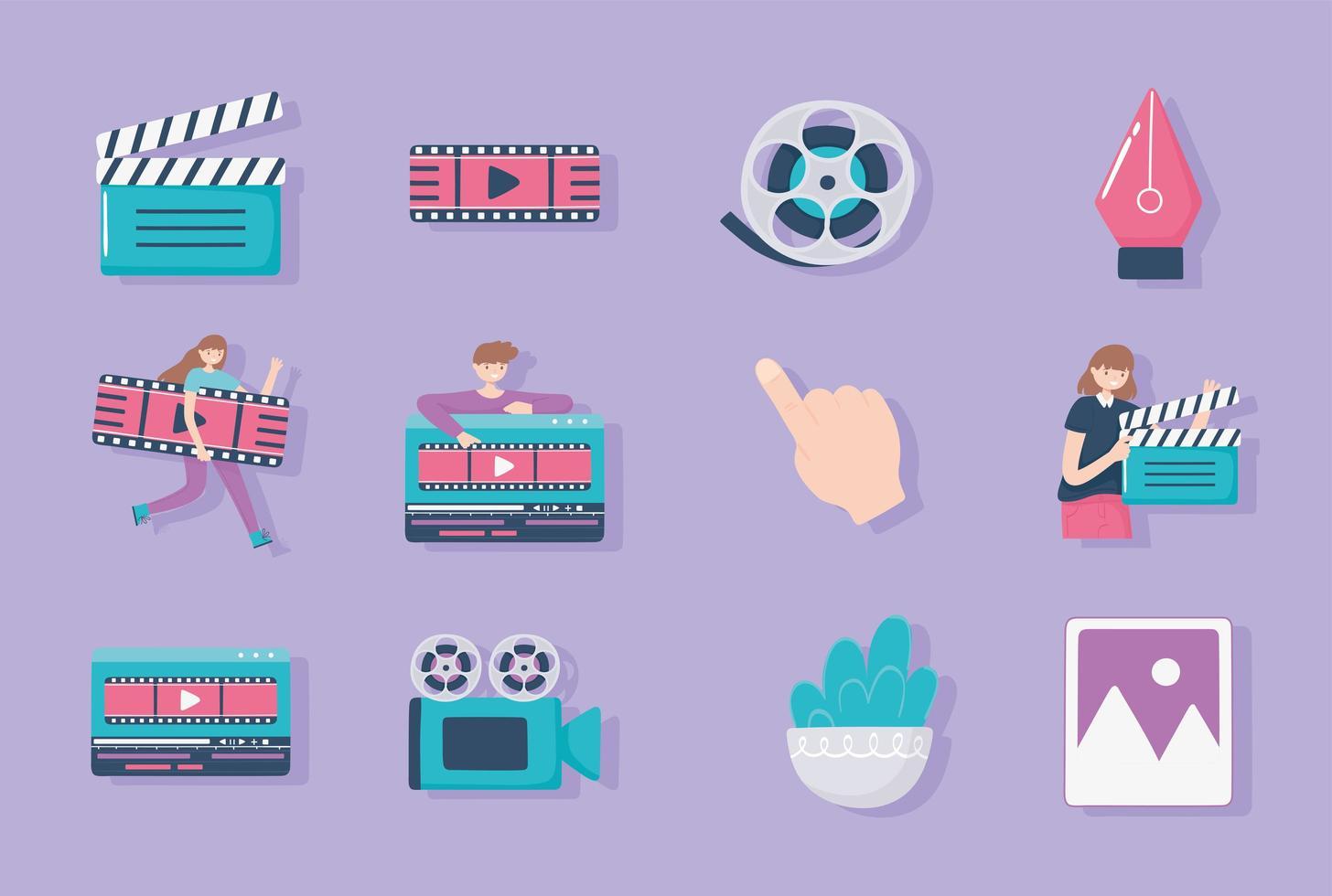 conjunto de ícones de motion design vetor