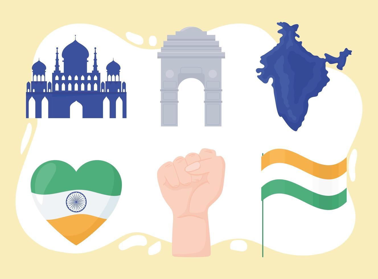 conjunto de independência da índia vetor