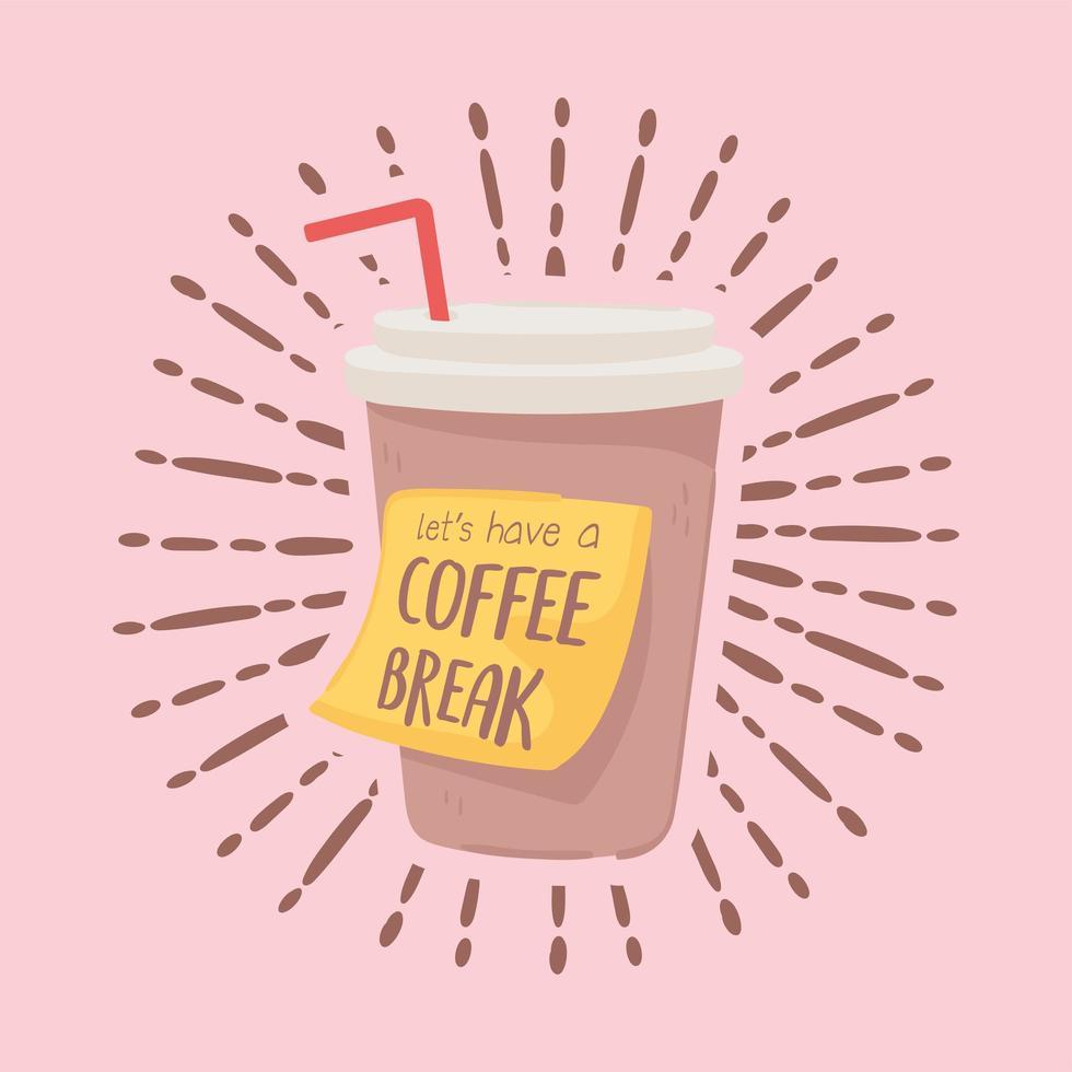 xícara de café descartável vetor