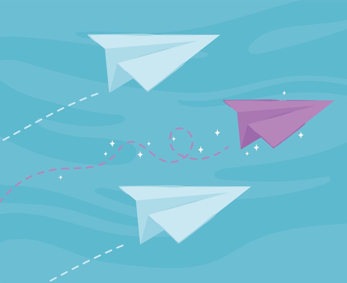 inovação em aviões de papel vetor